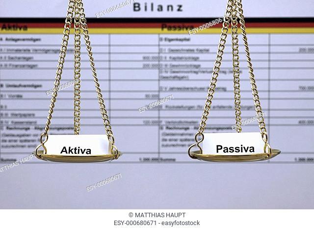 Bilanz im Gleichgewicht