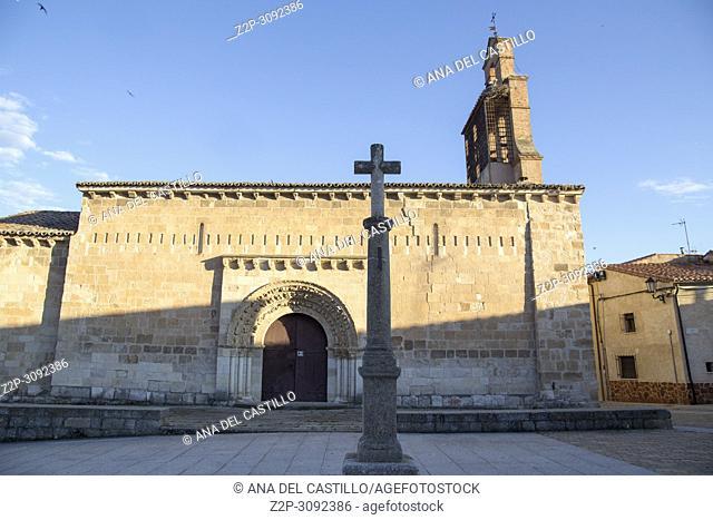 Zamora monumental city in Castile and Leon Spain. San Claudio de Olivares romanesque church