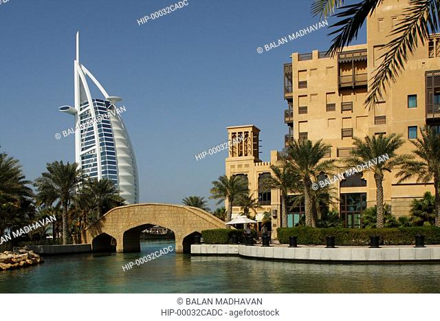 MADINAT JUMEIRAH HOTEL AND BURJ AL ARAB IN DUBAI