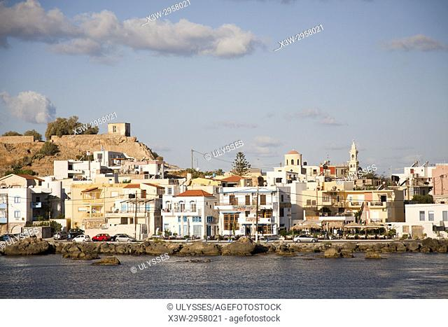 Paleohora village and Venetian Castle, Crete island, Greece, Europe