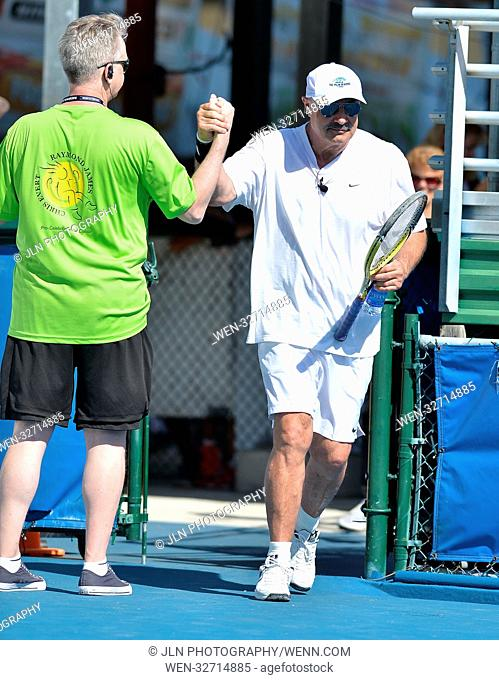 Day 3 of the 28th Annual Chris Evert/Raymond James Pro-Celebrity Tennis Classic, at the Delray Beach Tennis Center in Delray Beach, Florida