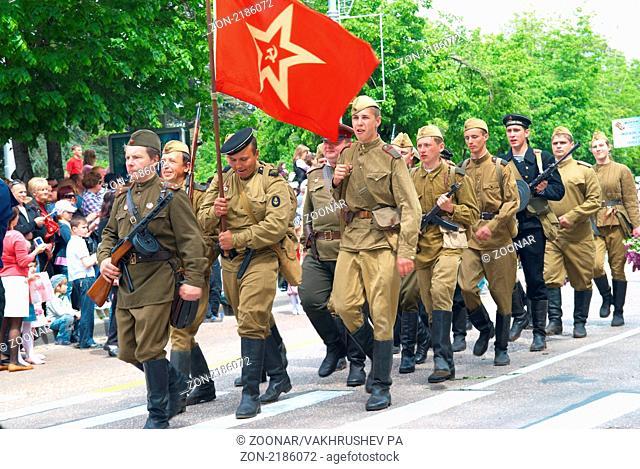 SEVASTOPOL, UKRAINE - MAY 9: Military parade May 9, 2010 in Sevastopol, Ukraine