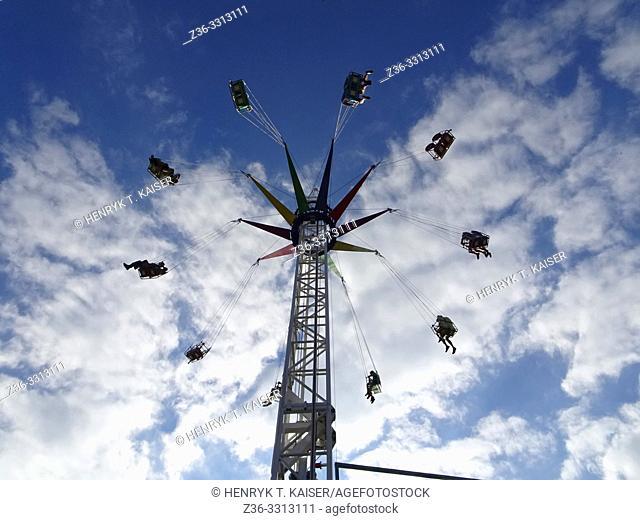 Carousel in Zarabie, Myslenice, Poland