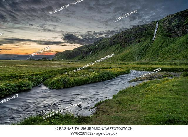 Creek by Seljalandsfoss Waterfalls, Iceland
