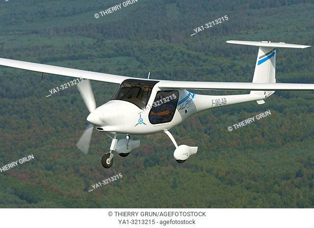 France, Bas-Rhin (67), Haguenau, new light airplane with electric motor Pipistrel Alpha-Electro