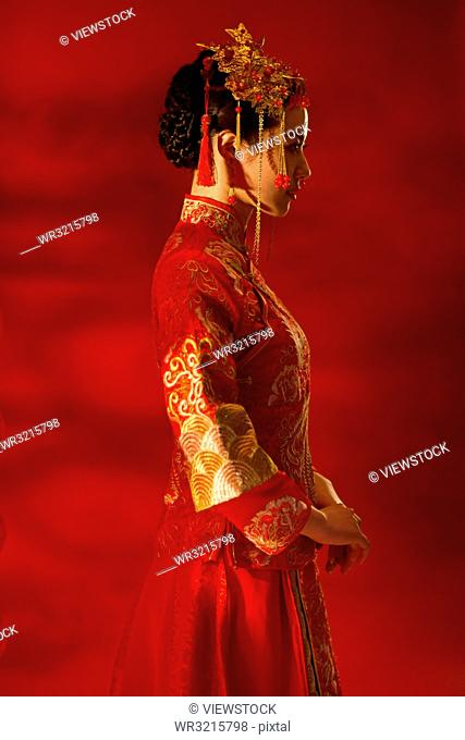 Beautiful bride costume