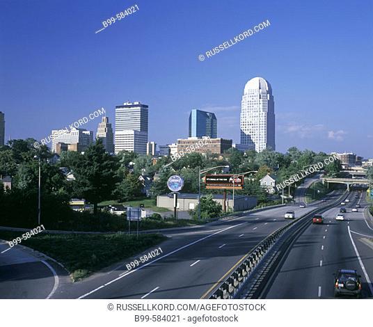 Downtown Skyline, Winston-salem, North Carolina, Usa