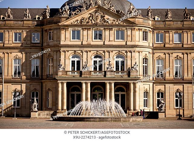 the New Palace in Stuttgart, Baden-Württemberg, Germany, Europe