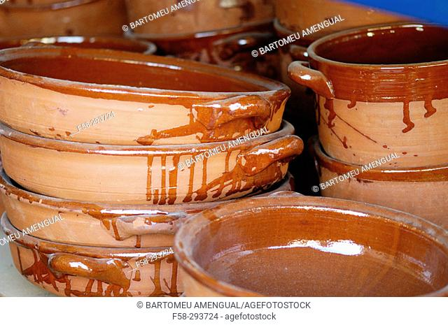 Mud handicraft. Majorca. Balearic Islands. Spain