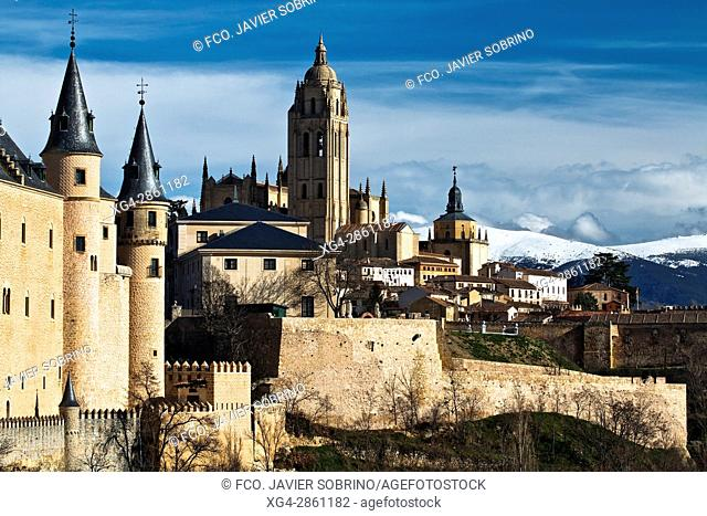 Torre de la catedral de Segovia - Castilla-León - España - Europa
