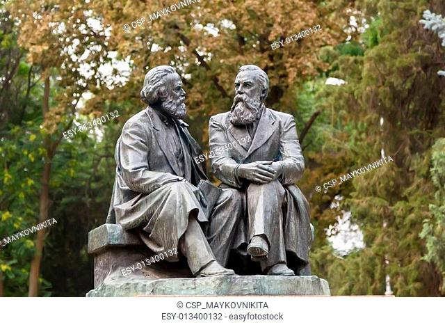 The monument to Karl Marx and Friedrich Engels