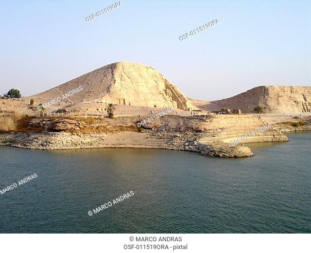 egypt nilo river shore empty