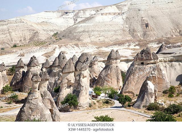 geological formations, area of zelve, landscape, cappadocia, anatolia, turkey, asia
