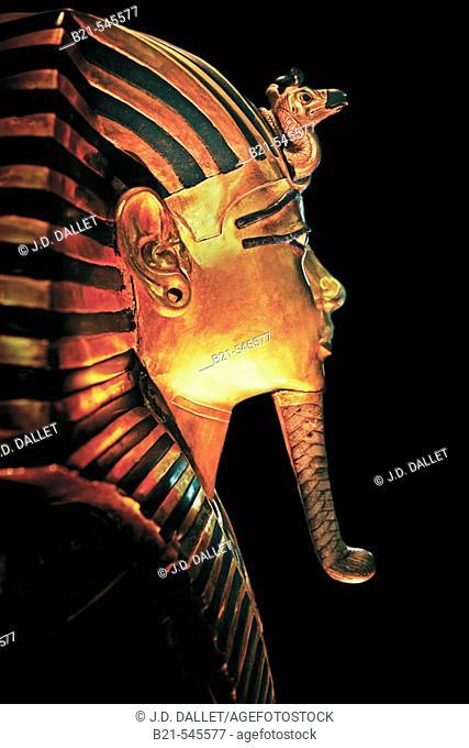 Egyptian Museum: Tutankhamon masque. El Cairo, Egypt
