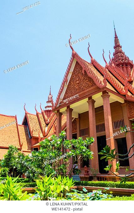 Central courtyard of National Museum of Cambodia, Phnom Penh, Cambodia