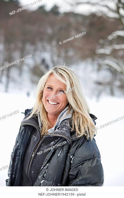 Mature woman smiling, Gothenburg, Sweden