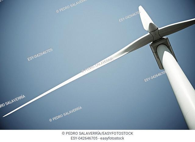 Windmill for electric power production, Burgos Province, Castilla Leon, Spain