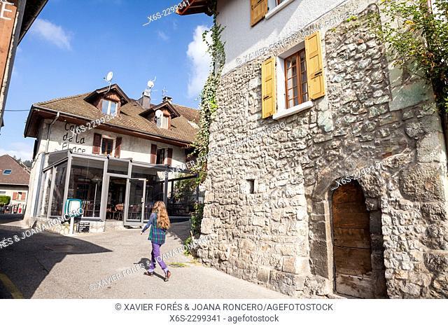 Talloires village on the bank of Annecy lake, Haute-Savoie, Rhône-Alpes, France
