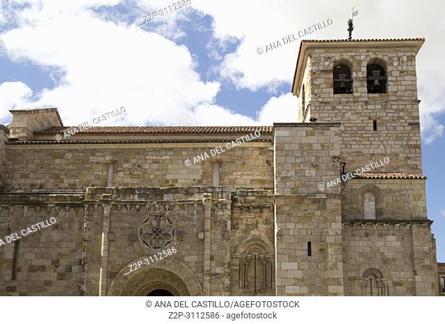 Zamora monumental town in Castile Leon on June 3, 2018 Spain. St Juan Bautista church