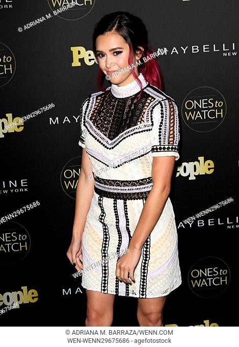 People's One's To Watch Event Celebrating Hollywood's Rising & Brightest Starts held at E.P. & L.P. in Los Angeles Featuring: Megan Nicole Where: Los Angeles