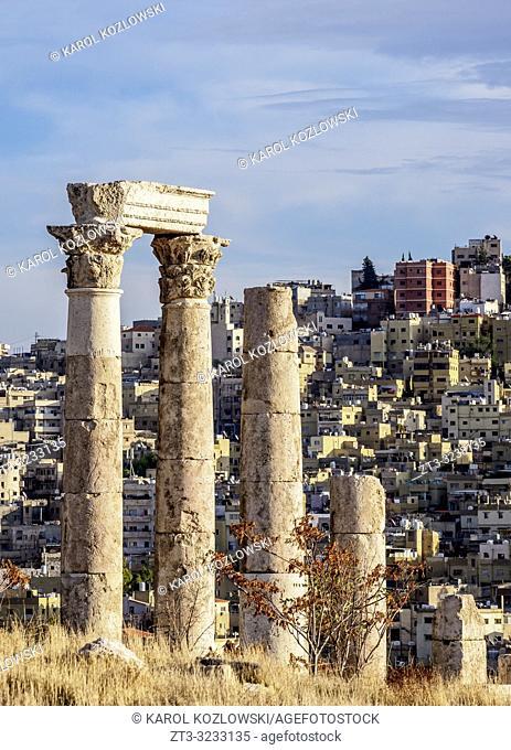 Temple of Hercules Ruins, Amman Citadel, Amman Governorate, Jordan