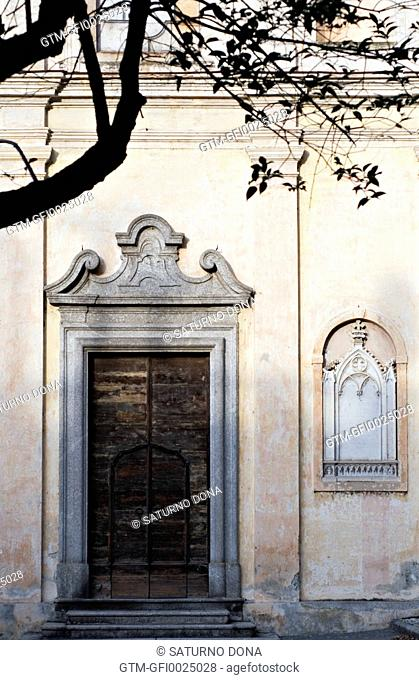 old church facade, Italy