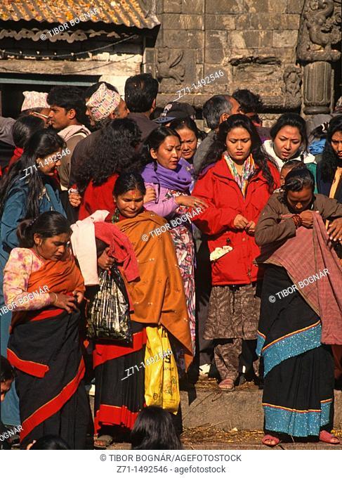 Nepal, Pashupatinath, Bala Chaturdasi Festival, people