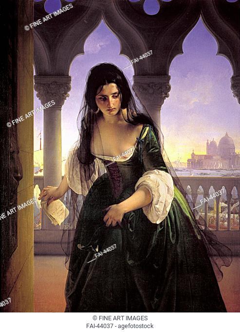 The secret denunciation (Accusa segreta) by Hayez, Francesco (1791-1882)/Oil on canvas/Romanticism/1847-1848/Italy, Milanese school/Musei Civici