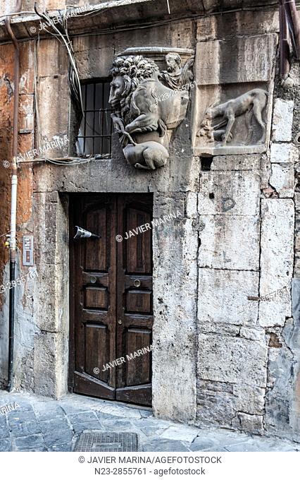 Via del Portico d'Ottavia, Rome, Italy