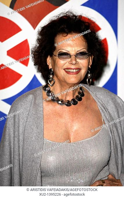 Italian actress Claudia Cardinale in the premiere of the movie 'Le Fil' which she stars, at the 12th Francophone Film Festival in Athens