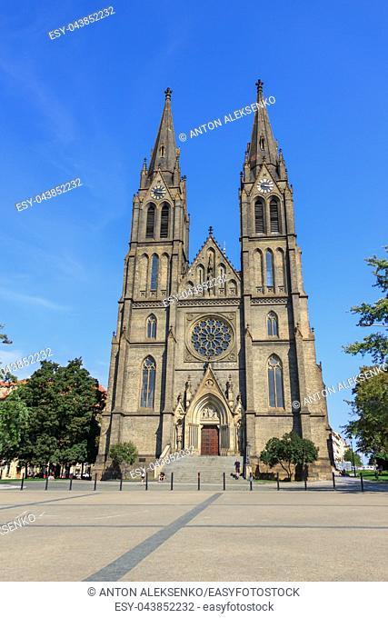 The Church of St. Ludmila in Prague, Czech Republic