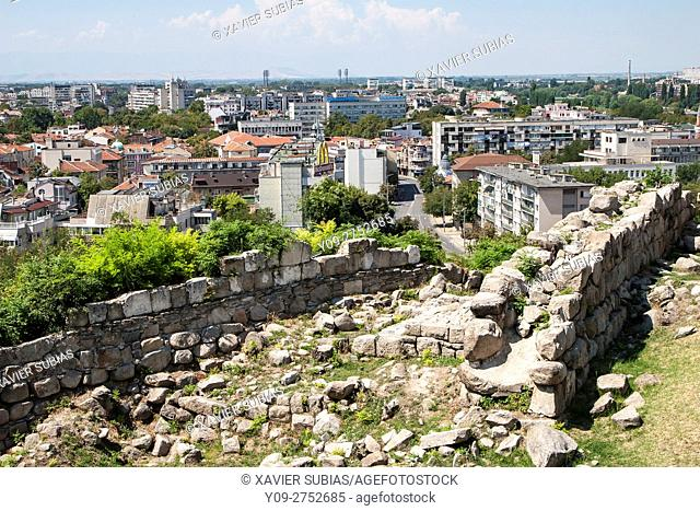 Fortress ensemble on Nebet Tepe hill, Plovdiv, Bulgaria