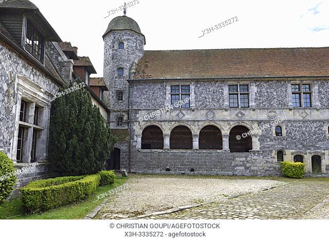 Manoir d'Ango (XVI eme siecle), ancienne residence d'ete de Jehan Ango, armateur et conseiller maritime de Francois 1er, Varengeville-sur-Mer, pres de Dieppe