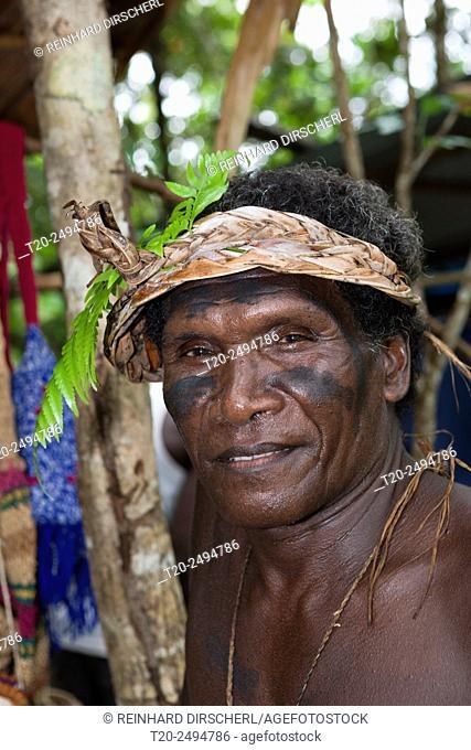 Man of Telina Island, Marovo Lagoon, Solomon Islands