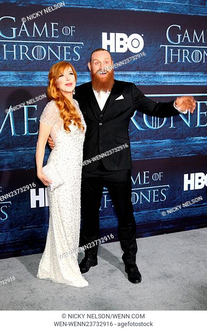 'Game of Thrones' Season 6 premiere screening held at TCL Chinese Theater IMAX Featuring: Gry Molvaer, Kristofer Hivju Where: Los Angeles, California