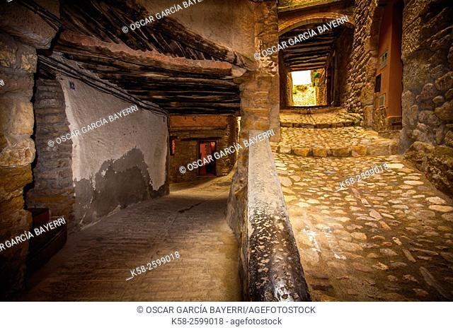 Medieval village, Àger, Montsec mountain range, pre-Pyrenees mountains, Lleida province, Catalonia, Spain