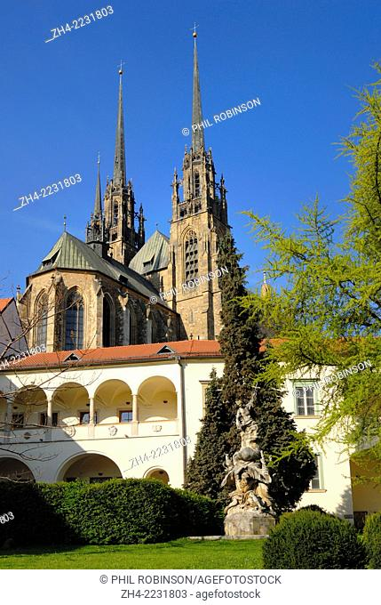 Brno, South Moravia, Czech Republic. Cathedral of St Peter and St Paul (11thC, rebuilt Gothic 14thC, transformed Baroque mid 18thC)