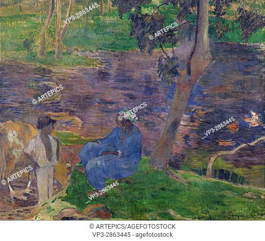 Paul Gauguin - On the shore of the lake at Martinique - Van Gogh Museum, Amsterdam