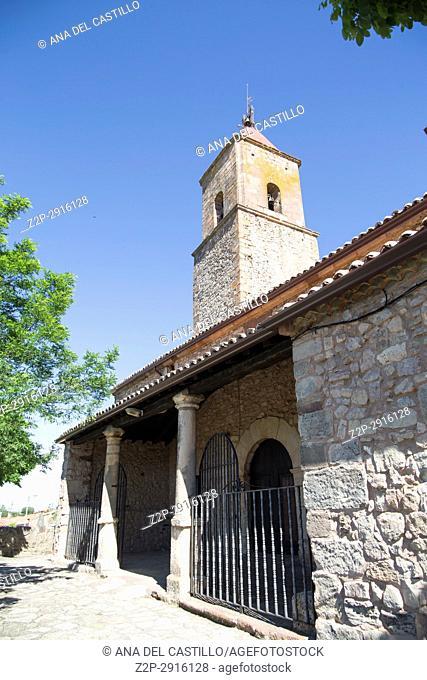 Alcolea del Pinar village in Guadalajara province Castile La Mancha Spain on June 13, 2017