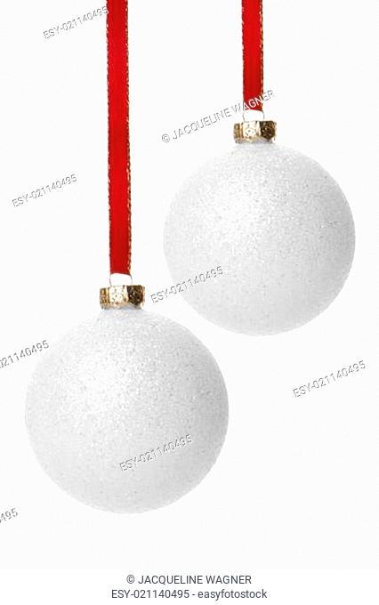 Weihnachten, Weihnachtskugeln weiß