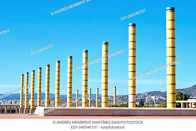 Olympic area of Montjuic, Barcelona, Catalonia, Spain