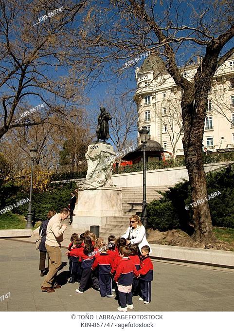 Escultura Goya. Museo del Prado. Madrid. España