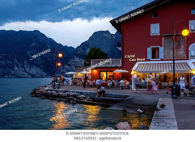 Lakeside Cafe, Torbole, Lake Garda, Italy