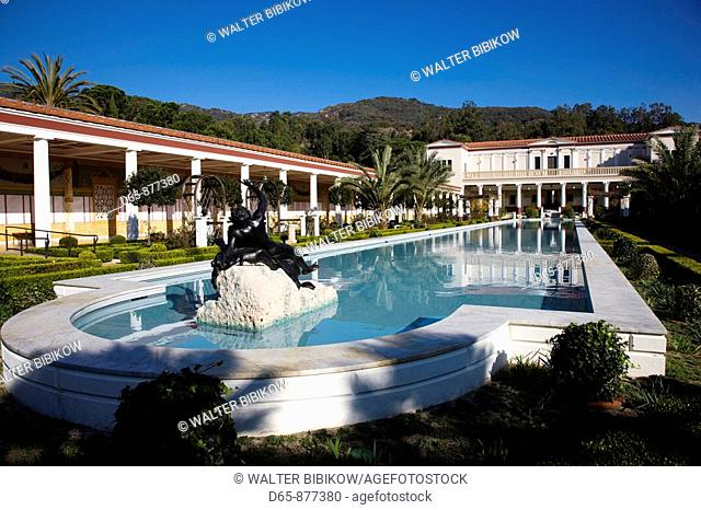 Getty Villa Museum, collection of oil tycoon J. Paul Getty, Pacific Palisades, Los Angeles, California, USA