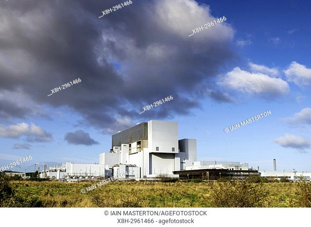 View of Torness Nuclear Power station in Scotland, United Kingdom