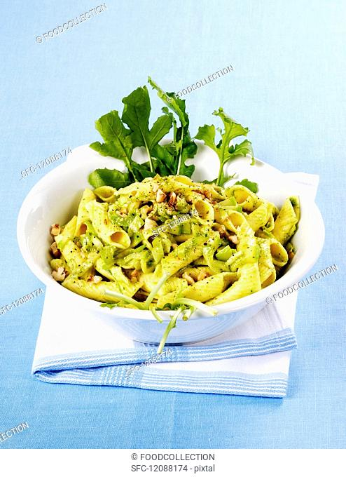 Garganelli with courgette and nuts
