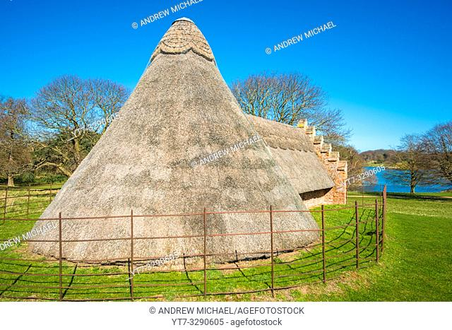 The 16th century Ice House used for storing imported ice before the invention of refrigeration Holkham Hall Norfolk UK