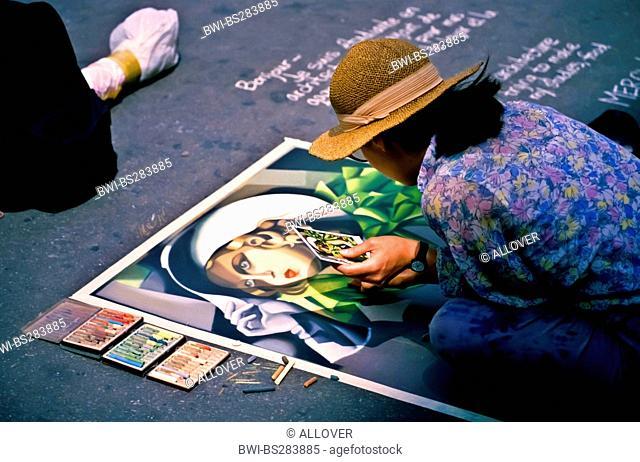 street painter at Montmartre, France, Paris