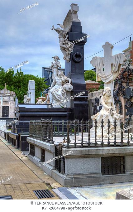 Tombs and mausoleums at the Recoleta Cemetery, Buenos Aires, Argentina, South America
