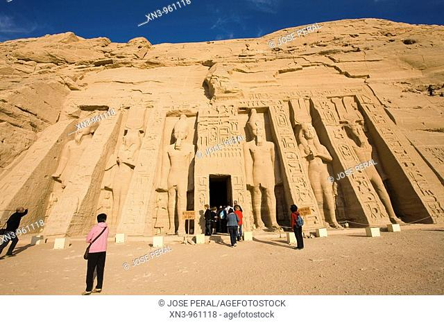 Temple of Hathor in honour of Nefertari. Abu Simbel. Egypt